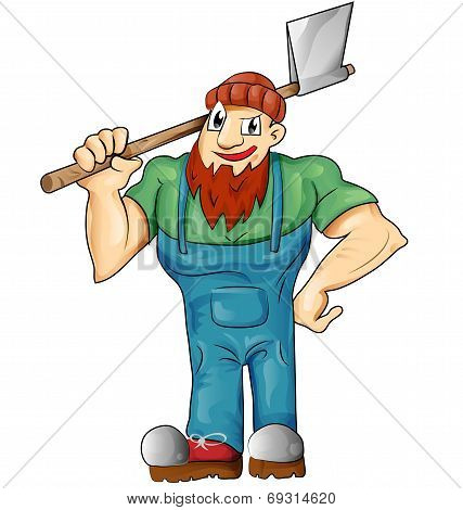 Lumberjack Cartoon Isolated