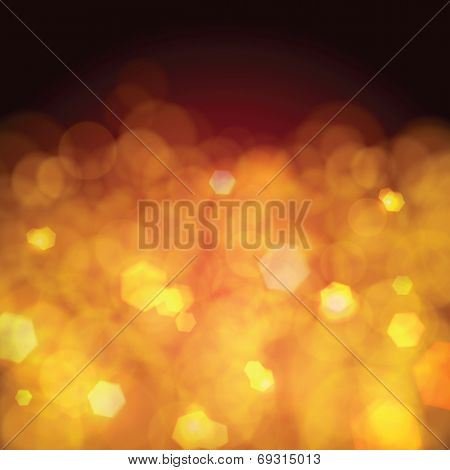 Golden festive background