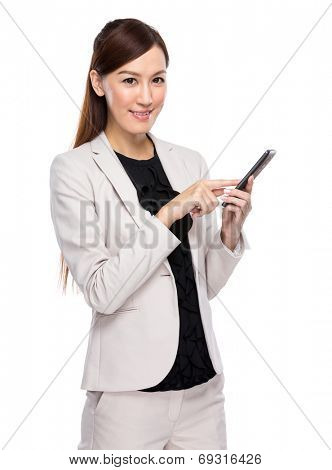 Businesswoman use mobile phone