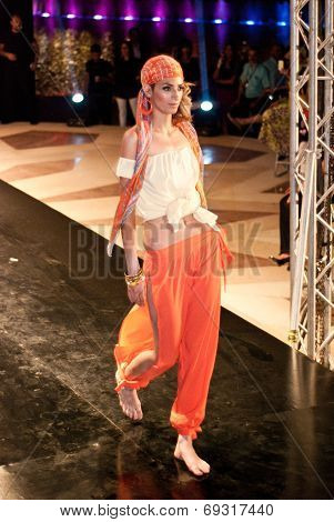 Fashion Show For Nancy Naguib Model 01 (on Runway)