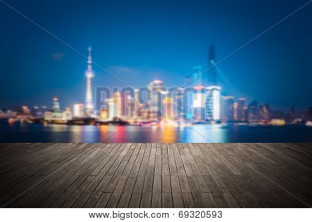 Dreamlike City Background Of Shanghai Skyline Cityscape
