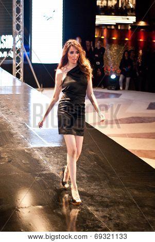 Fashion Show For Nancy Naguib Model 12 (on Runway)
