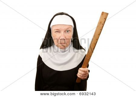 Grappige Nun
