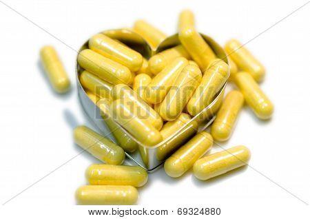 Yellow Capsule Heart
