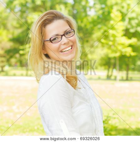 Happiness And Beautiful Young Woman