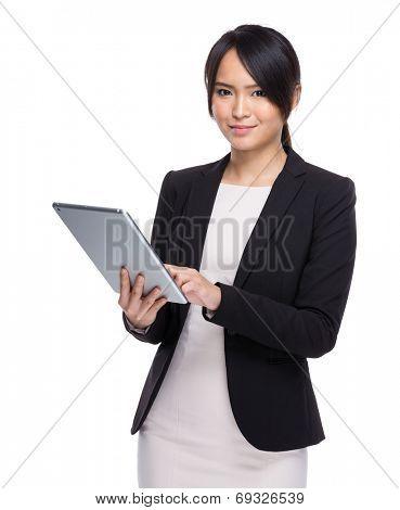 Business woman use digital tablet