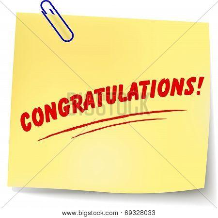 Vector Congratulations Message