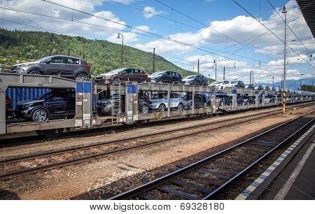 Train full of new cars