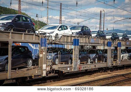 Train full of new cars