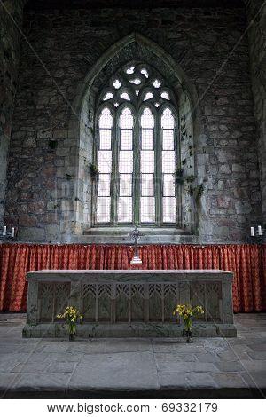 Altar Of The Abbey Church Of Iona, Scotland