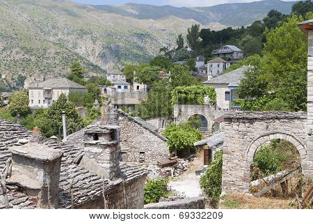 Old village at Tzoumerka in Greece