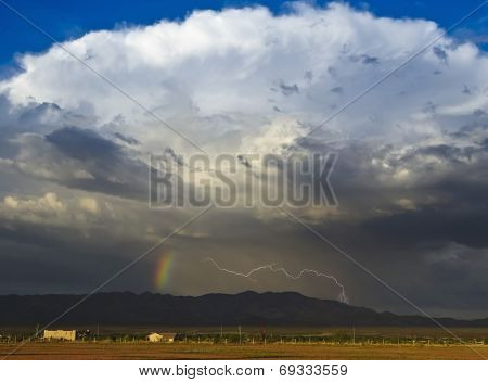 A Bolt Of Lightning And A Rainbow