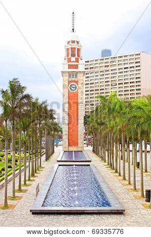 Hong Kong Clock Tower In Hong Kong, China. The Landmark is 44 Meter Tower