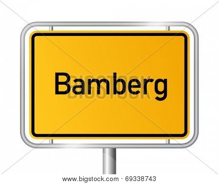 City limit sign Bamberg - signage - Germany