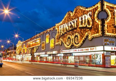 Honest Eds At Night