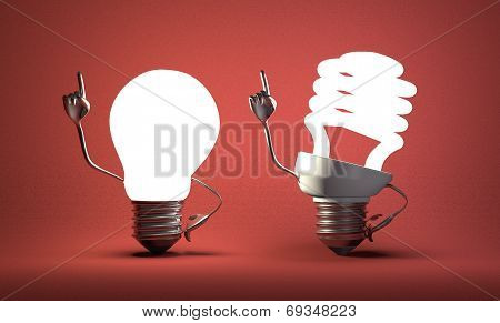 Spiral Light Bulb Character And Tungsten One With Ideas