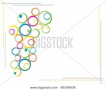 Colorful Ring Circles Background