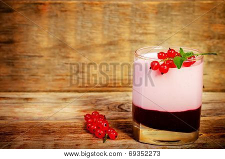 Red Currants Souffle In The Glass