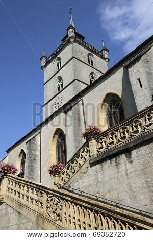 Church Saint-Laurent in Estavayer-le-Lac, Switzerland