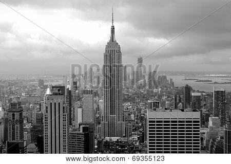 Manhattan black and White panorama