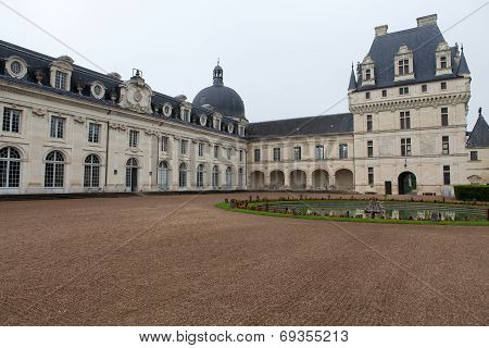 Valencay castle in the valley of Loire