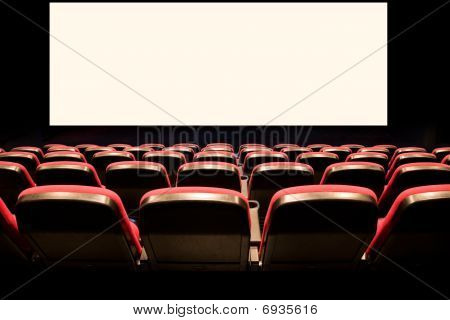Empty Red Seats In A Cinema
