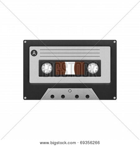 Cassette Tape Compact For Play Music And Recorder To Audio In 1980S Of Paper Cut