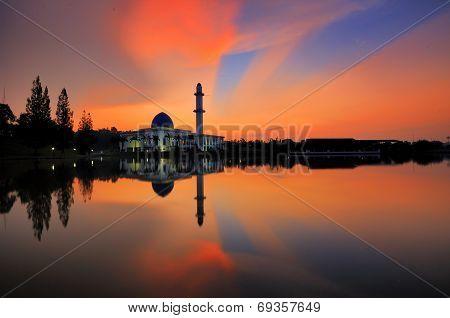 Sunrise view of Uniten Mosque