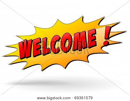Vector Welcome Icon