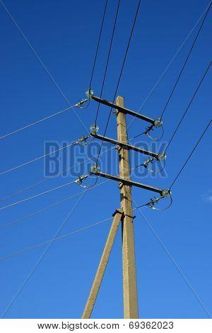 Old-fashioned electric pillar