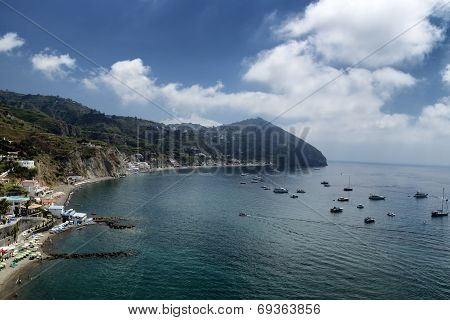 View Of Maronti Beach In Ischia Island