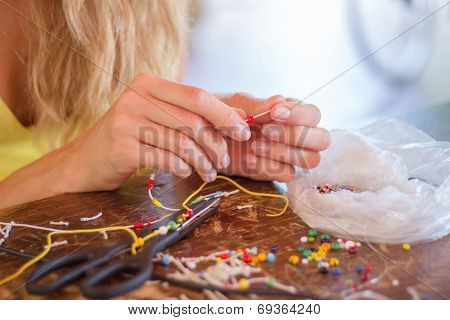 Craft. Hobby. Making Bracelet