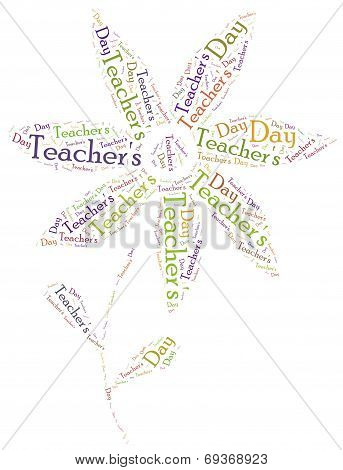 Word Cloud Illustration Related To Teacher's Day
