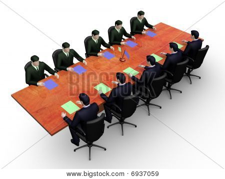 Groups of businessmans on informal business meeting