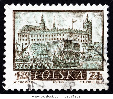 Postage Stamp Poland 1960 View Of Szczecin, Historic Town