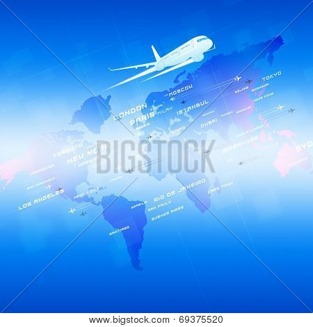 Aviation Blue Background