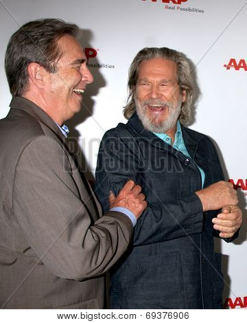 LOS ANGELES - AUG 1:  Beau Bridges (Brown suit), Jeff Bridges at the AARP Luncheon IHO Jeff Bridges at the Spago on August 1, 2014 in Beverly Hills, CA