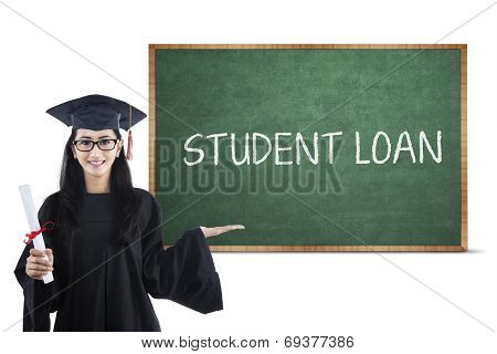 Bachelor And Student Loan Text