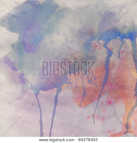 Paper texture. Watercolor stains background.
