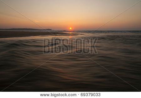 Sunset In The Beach, Galicia, Spain.