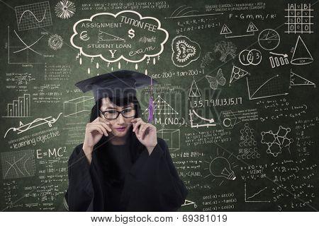 Beautiful Female Graduate Crying In Class