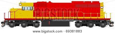 Diesel Electric Railroad Locomotive