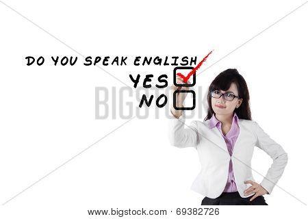 Female Teacher Of Foreign Language