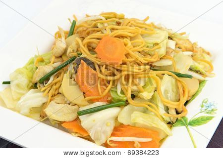 Pan Fried Yellow Chinese Noodle Call