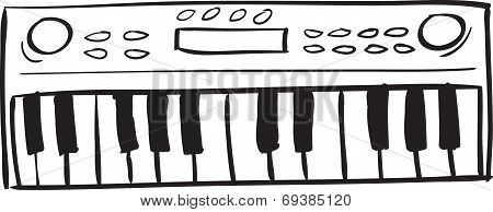 Musical Keyboard Doodle