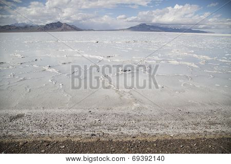 Beautiful Bonneville Salt Flats After A Summer Rain Storm