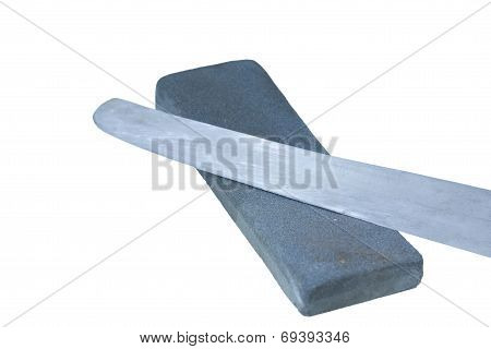 Knife And Sharpening Stone