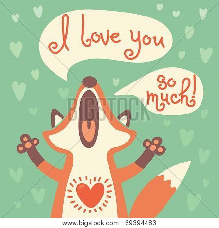 Cute fox confesses his love.