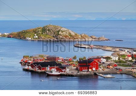 Village In Norway With House, Lofoten, Reine