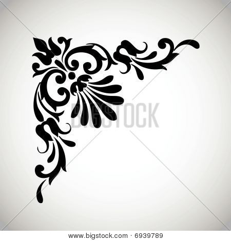 Decorative Vintage Design Element